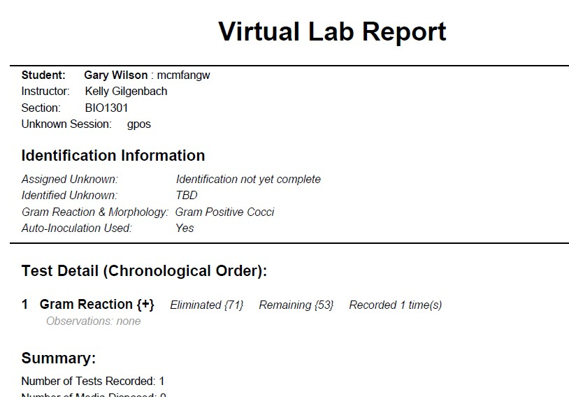 lab report for unknown bacteria bacillus cereus Unknown rport on bacillus cereus unknow bacteria lab report unknown 36 introduction the purpose of this lab was to identify two unknown bacteria from a.